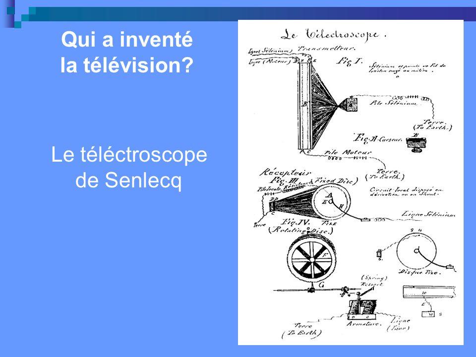 Qui a inventé la télévision.En 1884 lingénieur allemand Paul Nipkow a inventé un disque perforé.