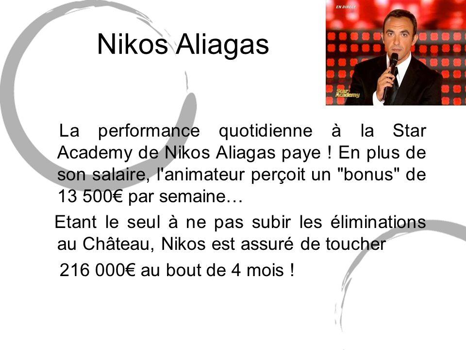 Nikos Aliagas La performance quotidienne à la Star Academy de Nikos Aliagas paye .