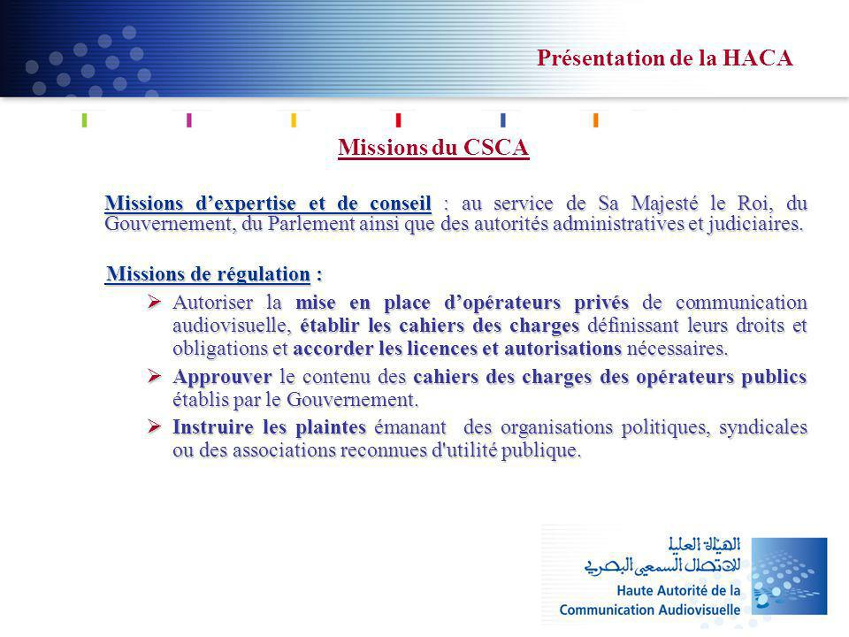 Missions du CSCA Missions dexpertise et de conseil : au service de Sa Majesté le Roi, du Gouvernement, du Parlement ainsi que des autorités administratives et judiciaires.