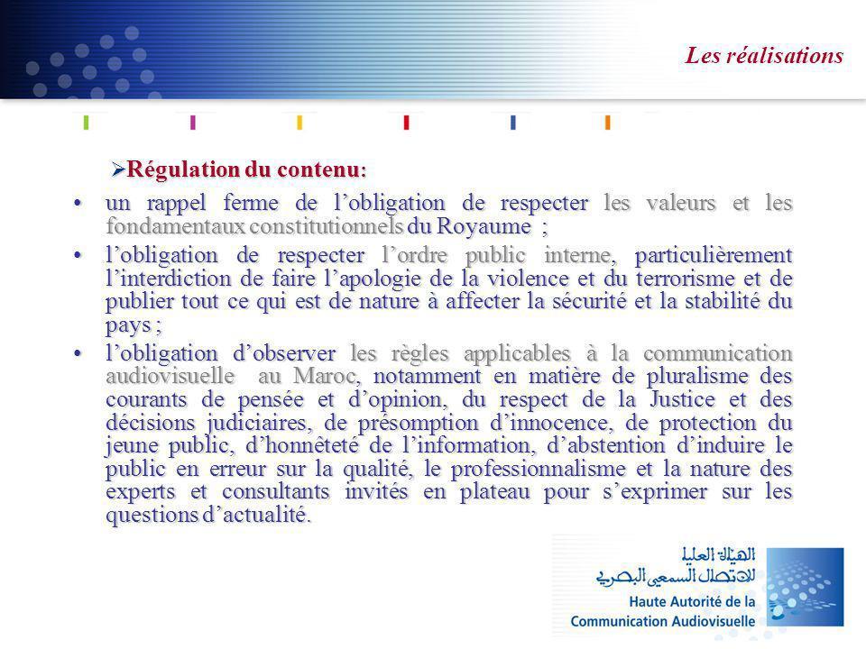 Régulation du contenu : Régulation du contenu : un rappel ferme de lobligation de respecter les valeurs et les fondamentaux constitutionnels du Royaum