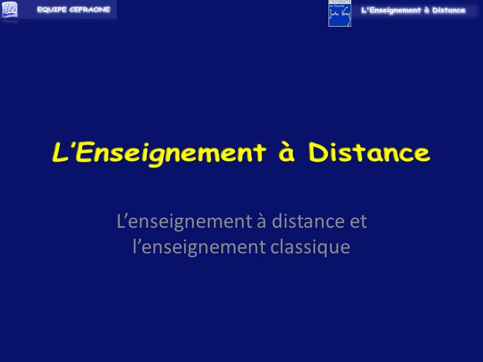 Lenseignement à distance et lenseignement classique