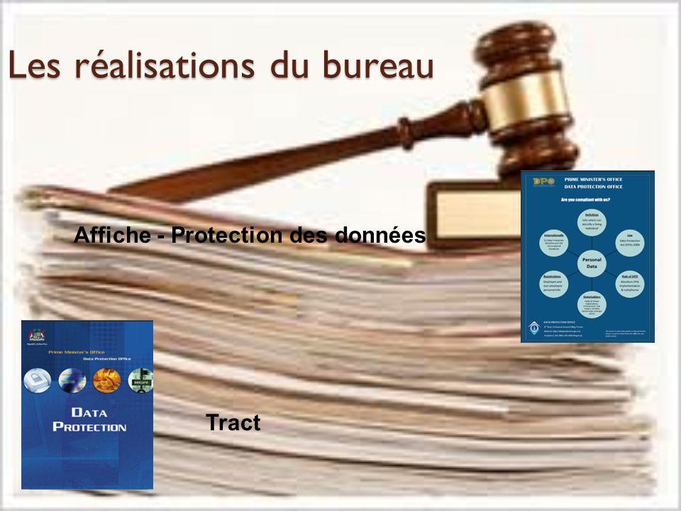 Les réalisations du bureau Affiche - Protection des données Tract