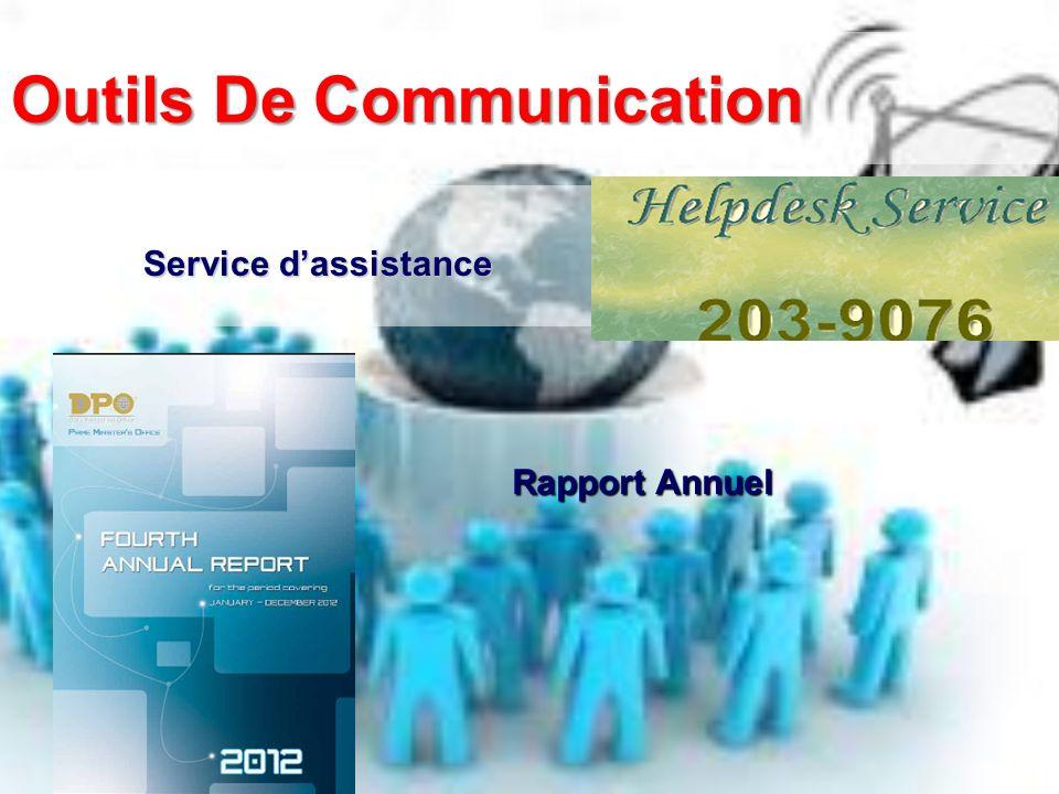 Outils De Communication Service dassistance Rapport Annuel