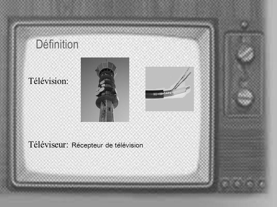 Introduction La télévision est un appareil d utilisation quotidienne dans la vie de l homme Est le moyen de communication plus diffusé du monde Est un système qui sert pour la transmission des images et des sons Les images que recueille une chambre sont émises par des ondes de haute fréquence jusqu aux antennes de réception