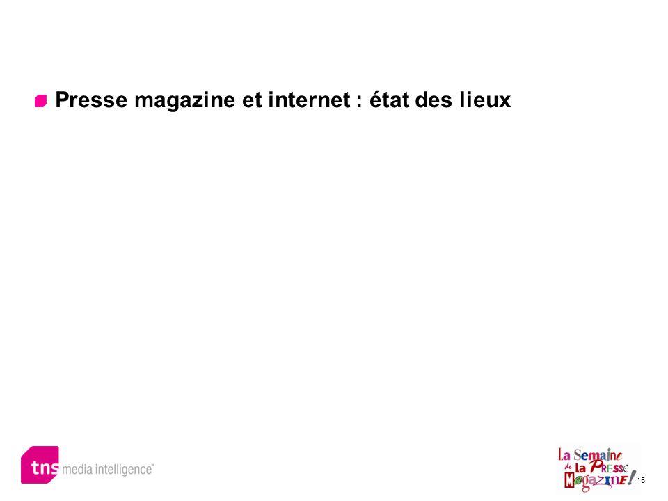 15 Presse magazine et internet : état des lieux