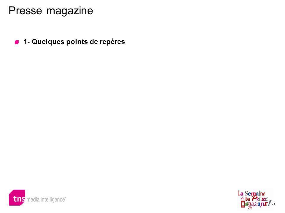 21 Presse magazine 1- Quelques points de repères
