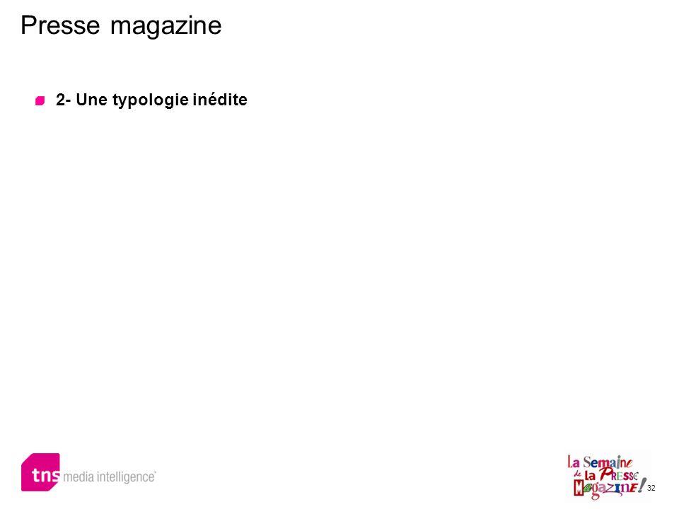 32 Presse magazine 2- Une typologie inédite