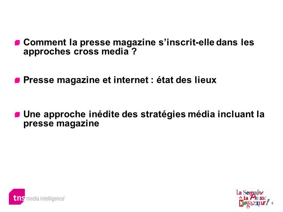 5 Comment la presse magazine sinscrit-elle dans les approches cross media ? Presse magazine et internet : état des lieux Une approche inédite des stra