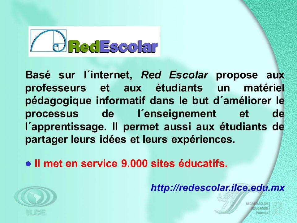 Basé sur l´internet, Red Escolar propose aux professeurs et aux étudiants un matériel pédagogique informatif dans le but d´améliorer le processus de l´enseignement et de l´apprentissage.