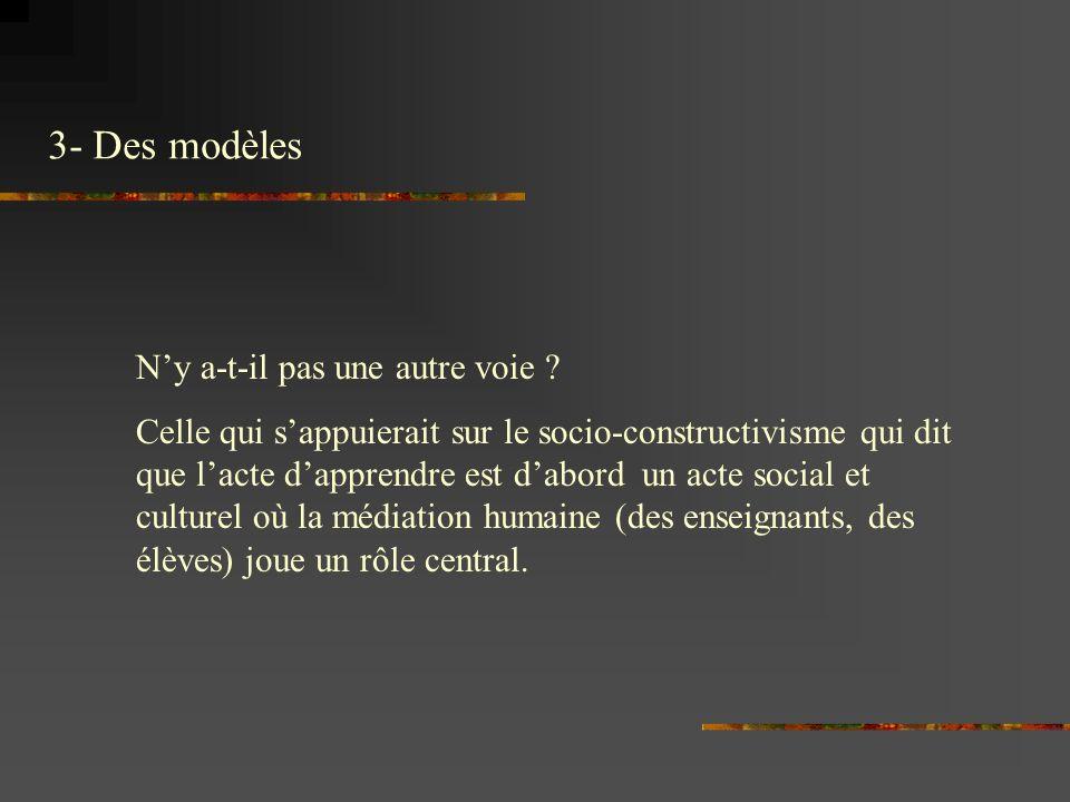 3- Des modèles Ny a-t-il pas une autre voie .