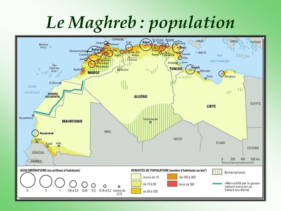 Le Maghreb : population