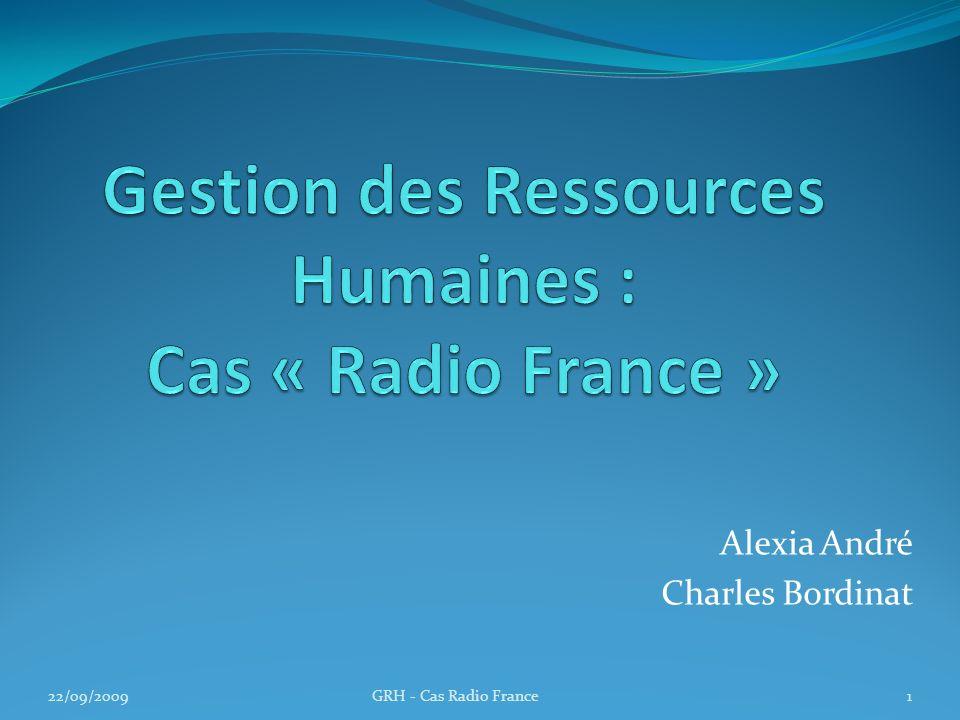 Alexia André Charles Bordinat 22/09/20091GRH - Cas Radio France
