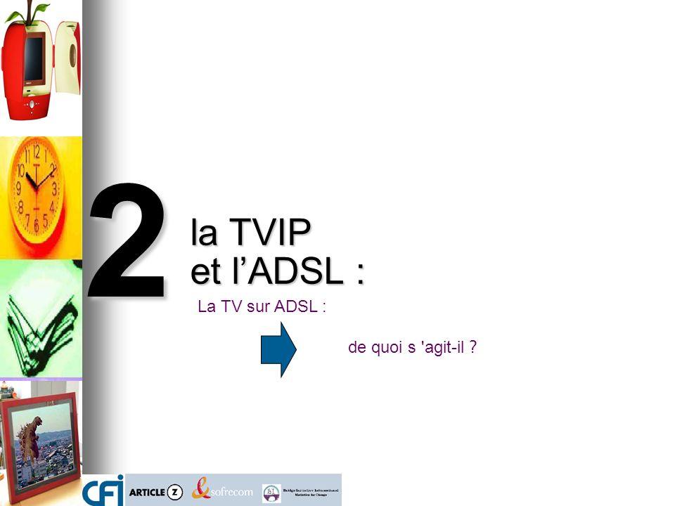 2 la TVIP et lADSL : La TV sur ADSL : de quoi s agit-il ?