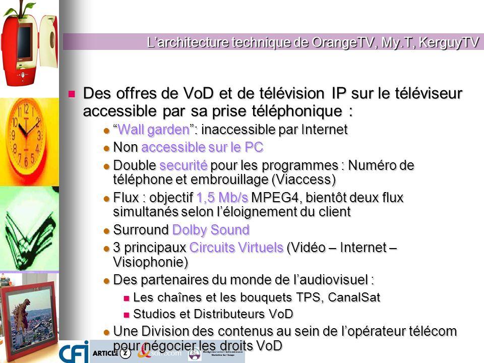 Des offres de VoD et de télévision IP sur le téléviseur accessible par sa prise téléphonique : Des offres de VoD et de télévision IP sur le téléviseur