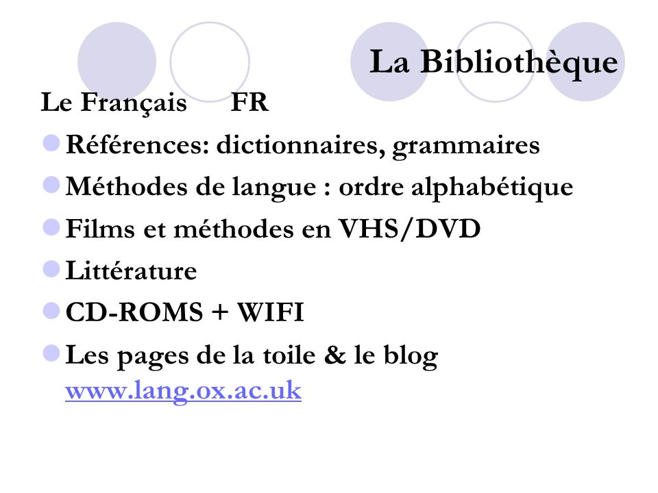 La Bibliothèque Modern French grammar: a practical guide, 2 nd edition FR REF GRAM LANG