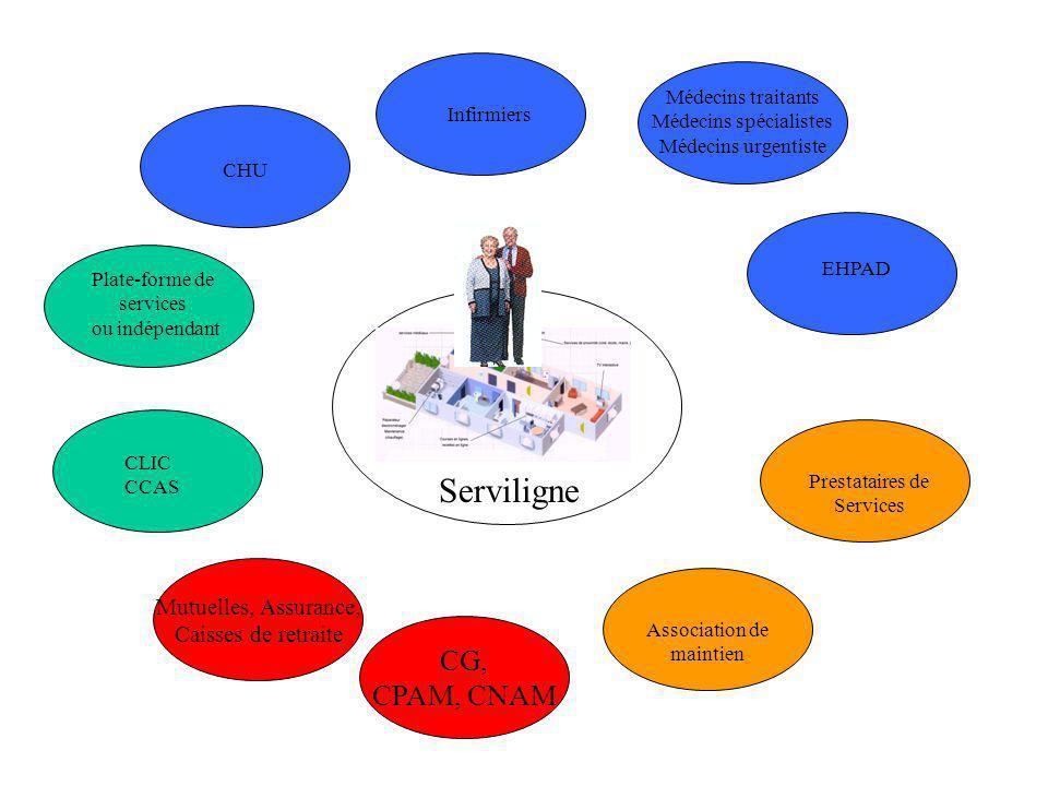 Médecins traitants Médecins spécialistes Médecins urgentiste Infirmiers Plate-forme de services ou indépendant CLIC CCAS Prestataires de Services Asso
