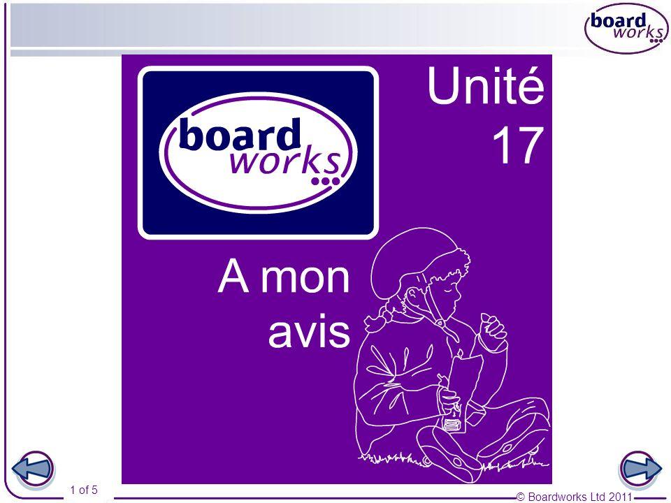 © Boardworks Ltd 2011 2 of 5 La télévision 1