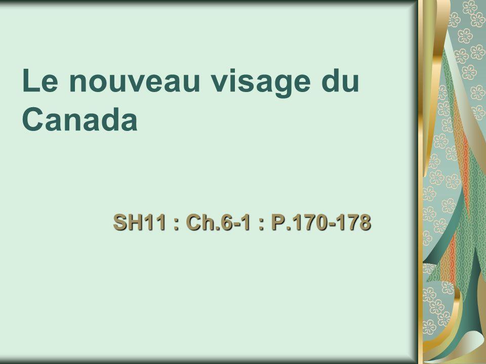 Explosion démographique : « baby-boom » 6,7 millions de Canadiens sont nés entre 1946 et 1961 (1/3 de la population).