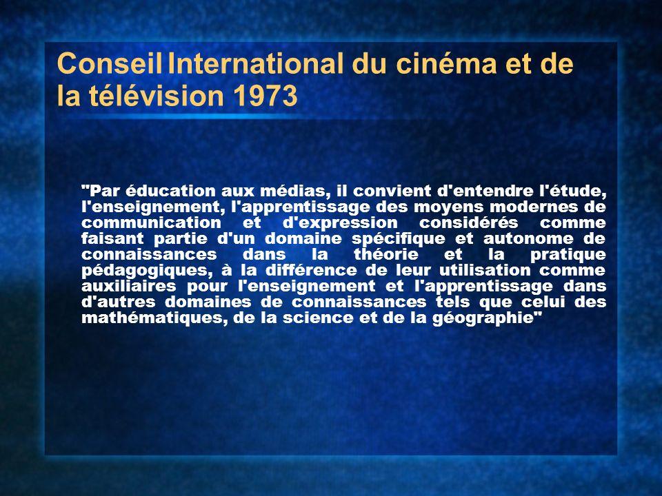 Conseil International du cinéma et de la télévision 1973