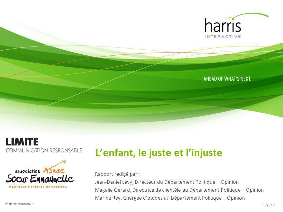 Rapport rédigé par : Jean-Daniel Lévy, Directeur du Département Politique – Opinion Magalie Gérard, Directrice de clientèle au Département Politique –