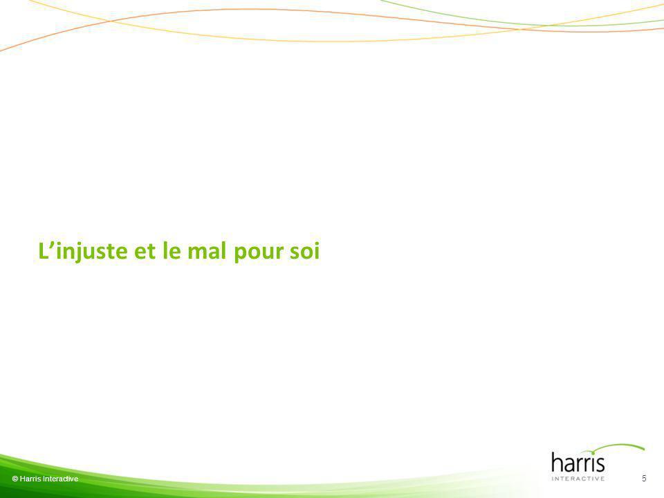 Linjuste et le mal pour soi © Harris Interactive 5