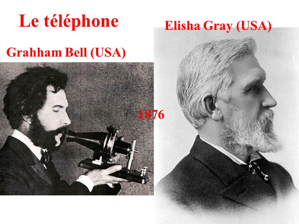 Le téléphone Grahham Bell (USA) Elisha Gray (USA) 1876
