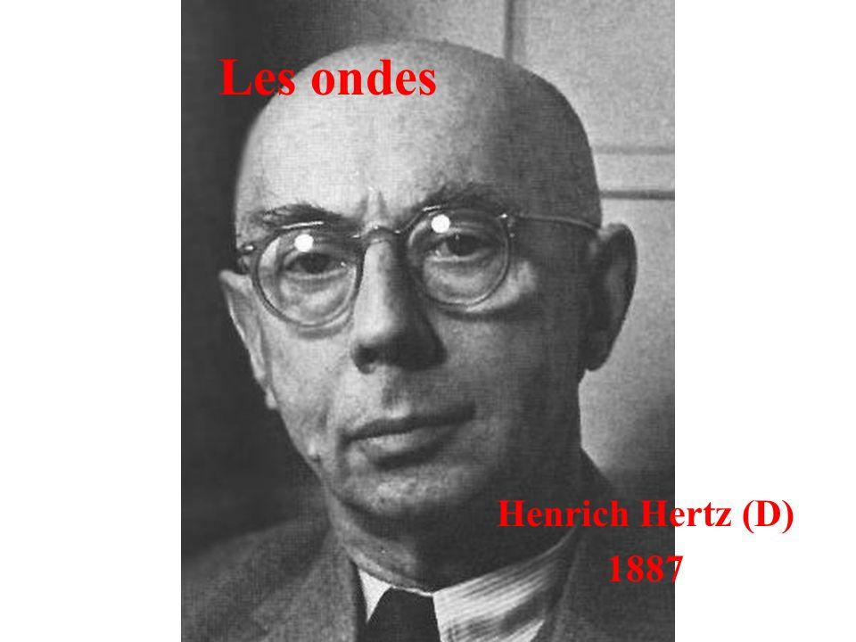 Les ondes Henrich Hertz (D) 1887