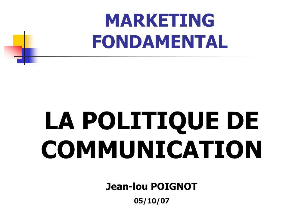 POLITIQUE DE COMMUNICATION LES RELATIONS PUBLIQUES Les différents supports écrits et audio- visuel de la Com.