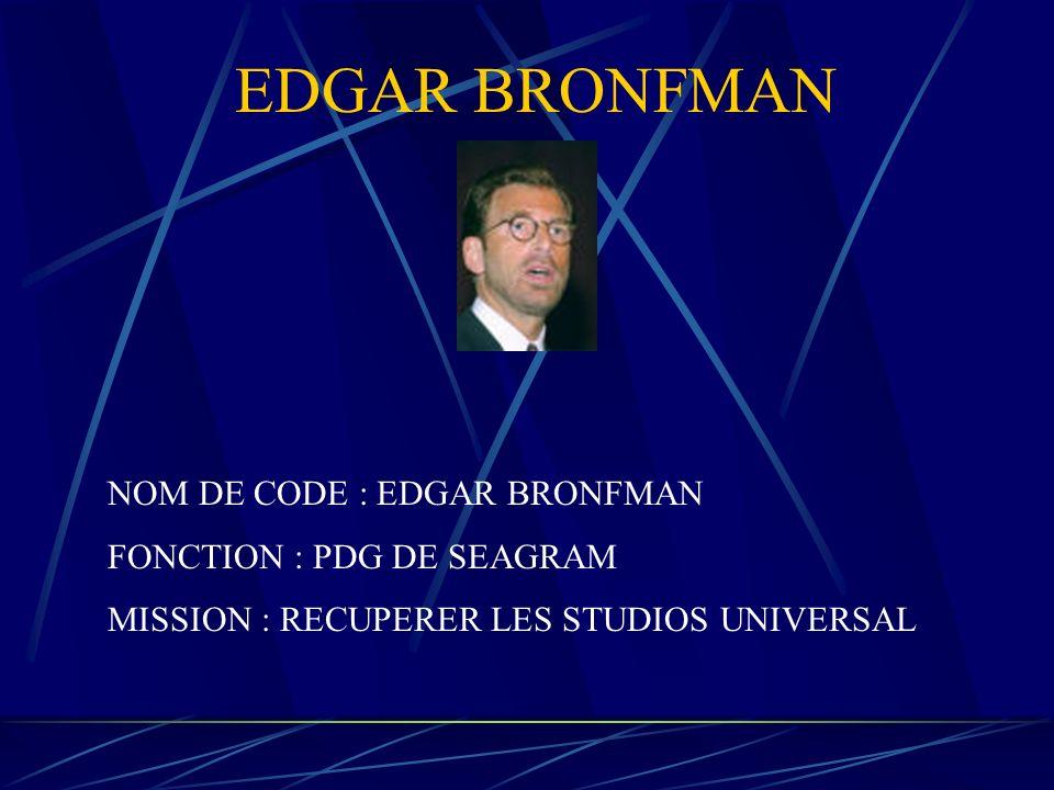 LES PRINCIPAUX ACTEURS DE CETTE FUSION EDGAR BRONFMAMN EDGAR BRONFMAMN PIERRE LESCURE JEAN MARIE MESSIER