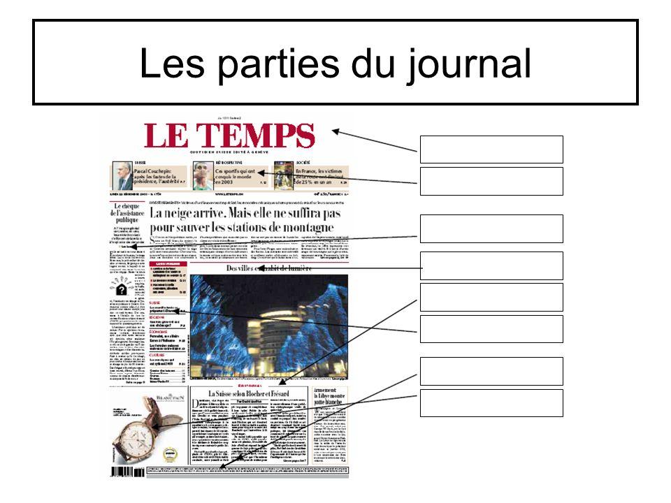 Comparaison de deux journaux Analyse des titres des journaux Analyse des illustrations Analyse des textes de première page