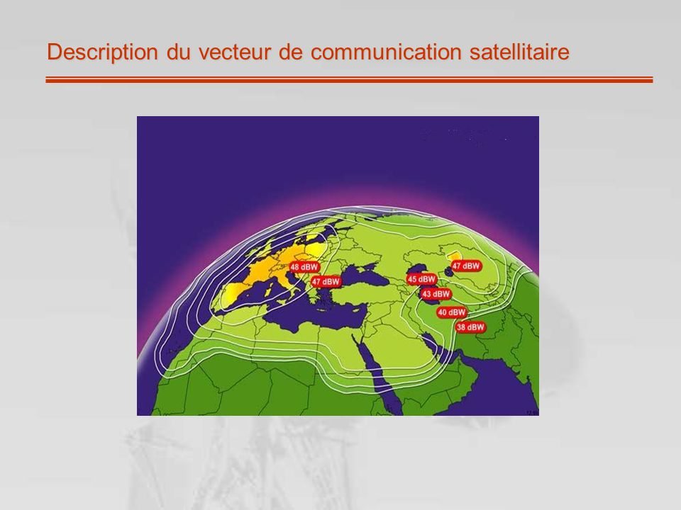 Description du vecteur de communication satellitaire