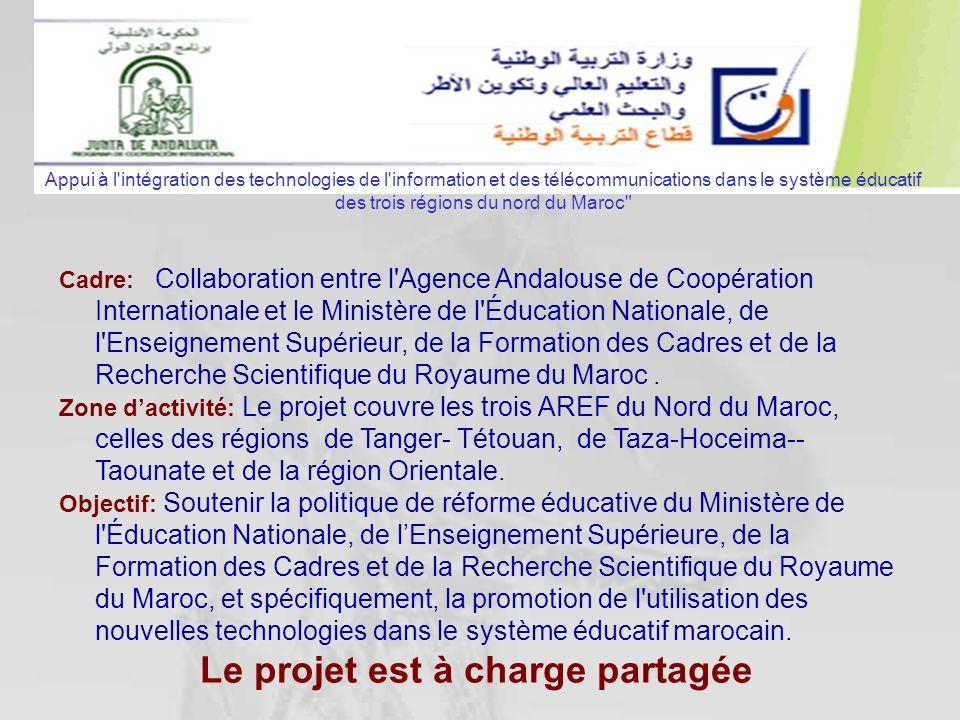 Cadre: Collaboration entre l'Agence Andalouse de Coopération Internationale et le Ministère de l'Éducation Nationale, de l'Enseignement Supérieur, de