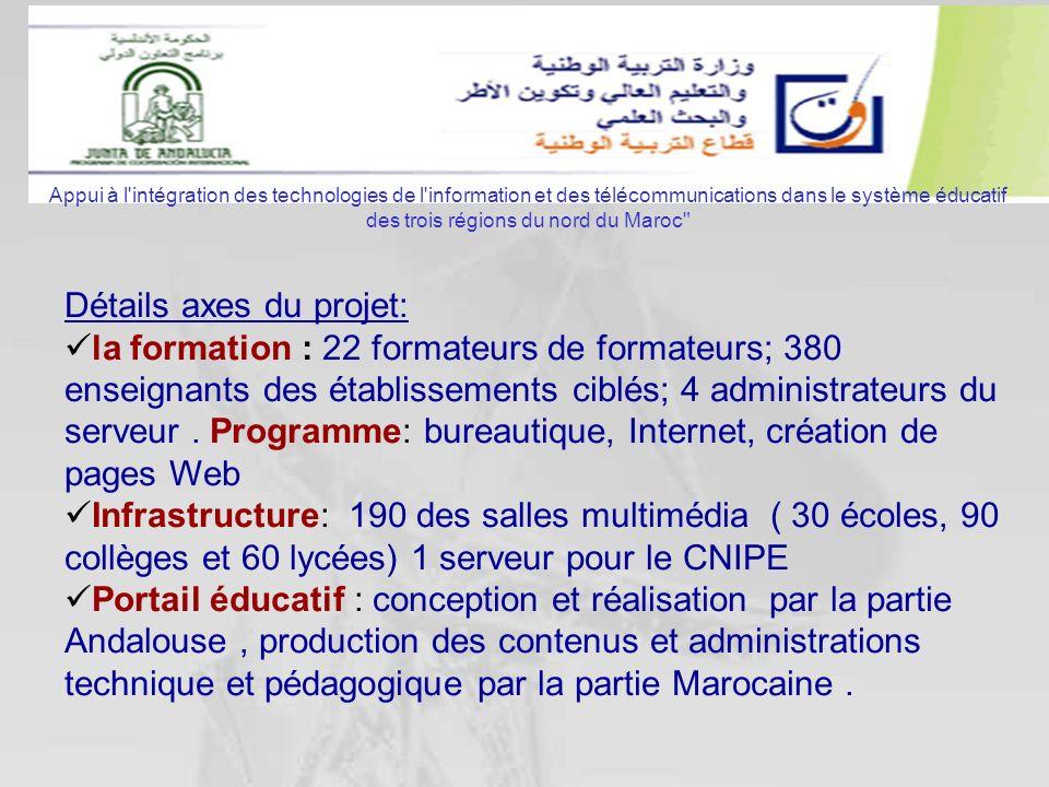 Appui à l'intégration des technologies de l'information et des télécommunications dans le système éducatif des trois régions du nord du Maroc