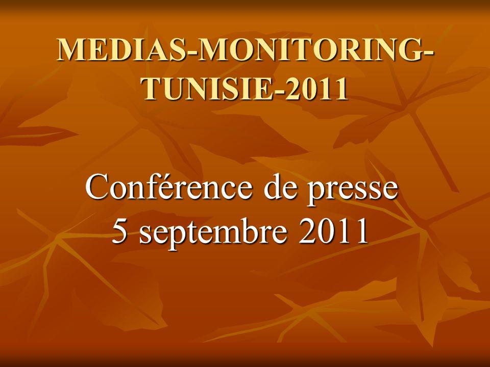 MEDIAS-MONITORING- TUNISIE-2011 Conférence de presse 5 septembre 2011