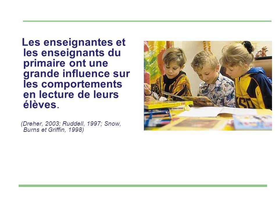 Les enseignantes et les enseignants du primaire ont une grande influence sur les comportements en lecture de leurs élèves.