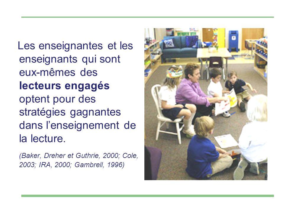 Les enseignantes et les enseignants qui sont eux-mêmes des lecteurs engagés optent pour des stratégies gagnantes dans lenseignement de la lecture.