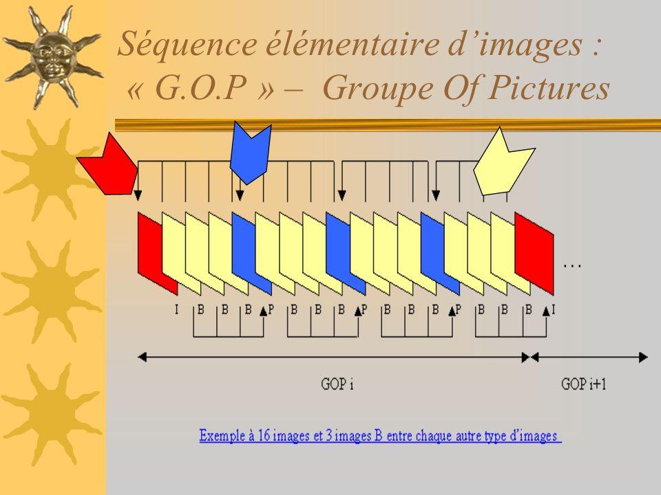 Séquence élémentaire dimages : « G.O.P » – Groupe Of Pictures