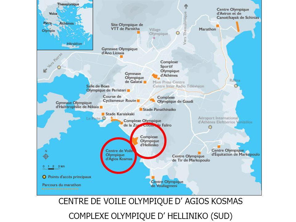 CENTRE DE VOILE OLYMPIQUE D AGIOS KOSMAS COMPLEXE OLYMPIQUE D HELLINIKO (SUD)