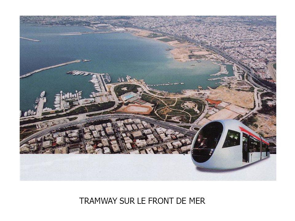 TRAMWAY SUR LE FRONT DE MER