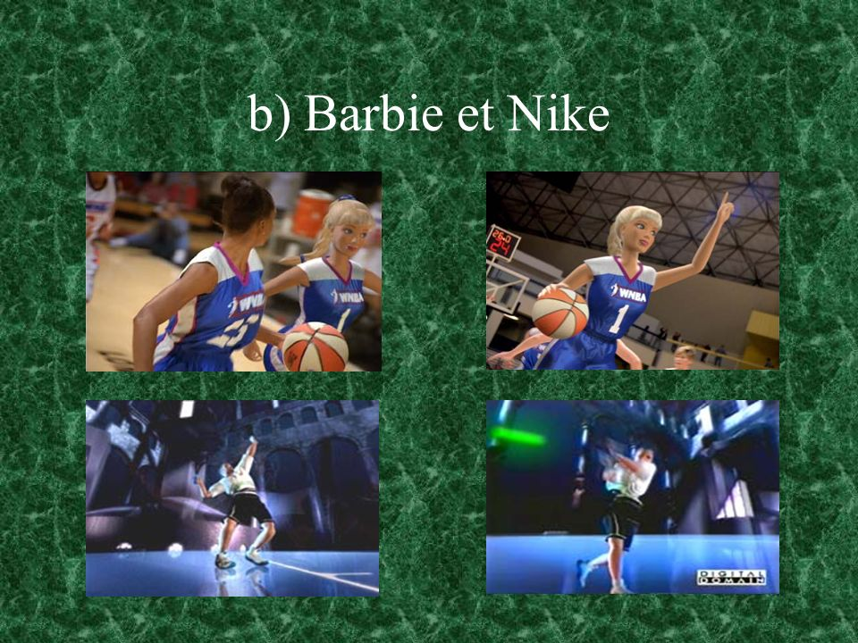 b) Barbie et Nike