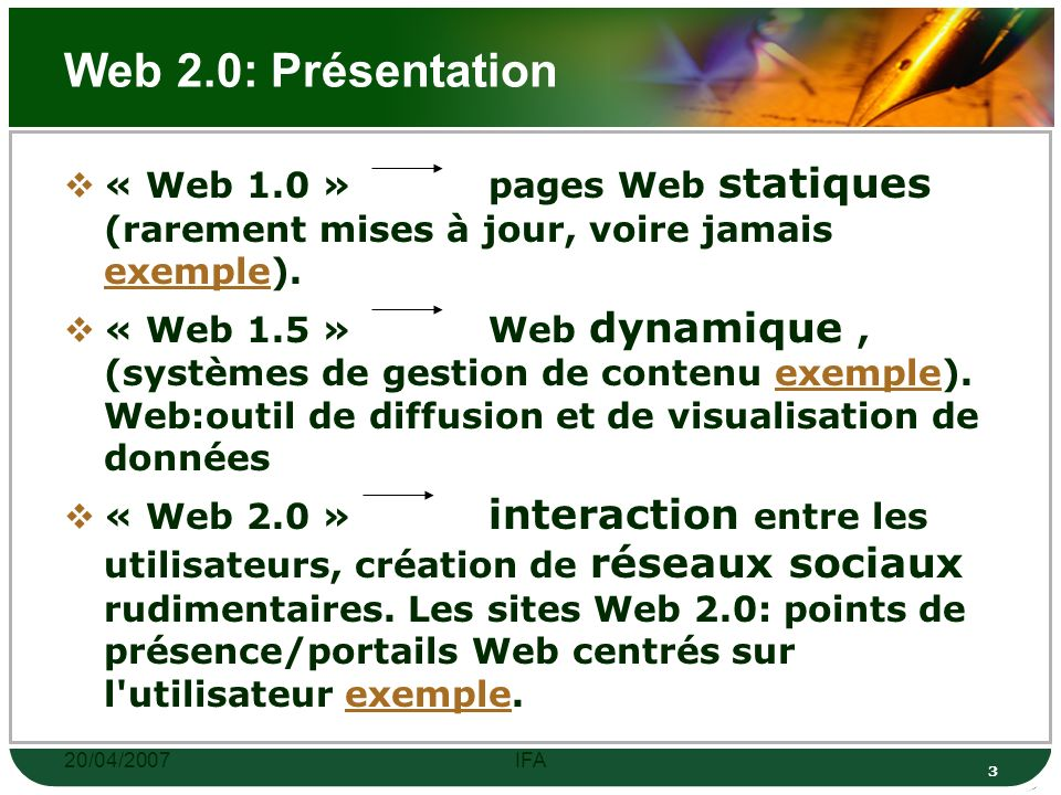 20/04/2007IFA 33 Activité 03: Évaluer des sites Internet http://www.martinlutherking.org/