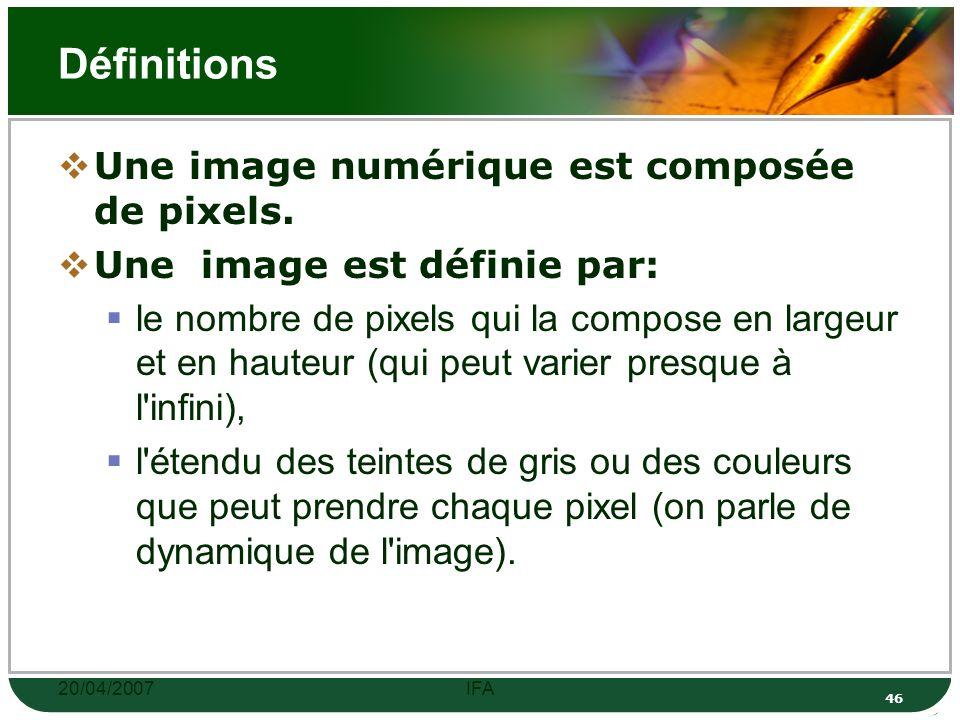 20/04/2007IFA 45 Logiciels pour éditer des images Adobes Photoshop Gimp Irfan Skiljan …