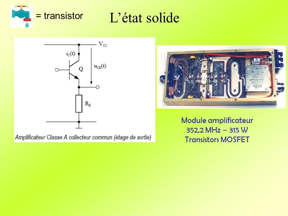 Létat solide = transistor Module amplificateur 352,2 MHz – 315 W Transistors MOSFET