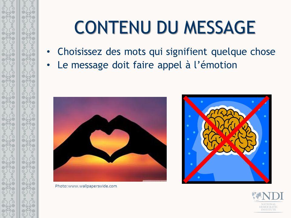 CONTENU DU MESSAGE Ne pas enseigner / ne pas faire un cours magistral Transmettre la confiance Raconter une histoire