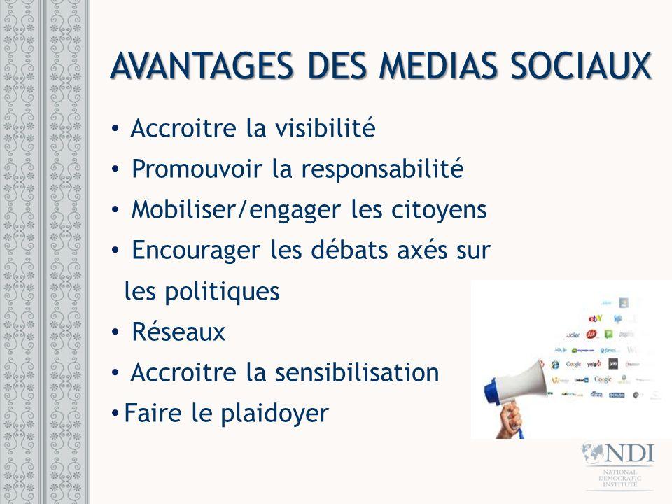 Facebook Twitter YouTube Site web personnel/organisationnel SITES DES RESEAUX SOCIAUX POPULAIRES