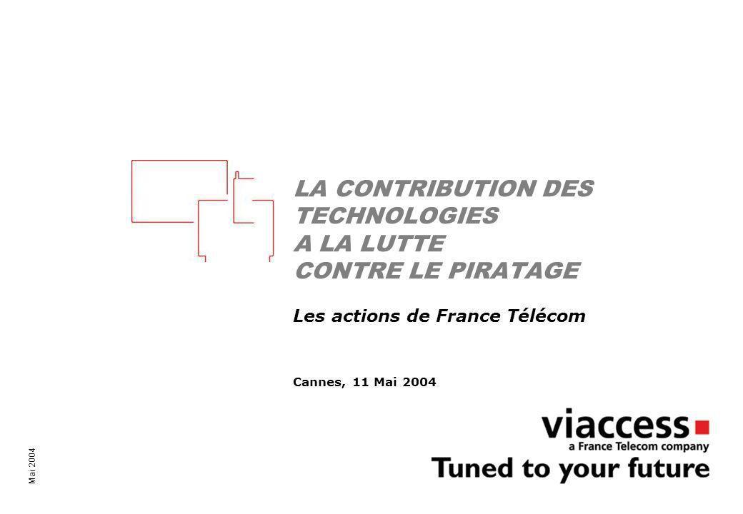 La technologie contre les pirates – Cannes, 11 Mai 2004 2 Une attente explicite Le cinéma ne veut pas de la napstérisation de la vidéo