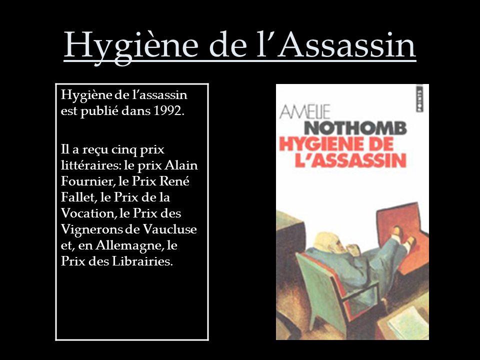 Des autres romans par Nothomb: Le Sabotage amoureux (1993) Les Combustibles (1994) Les Catilinaires (1995)