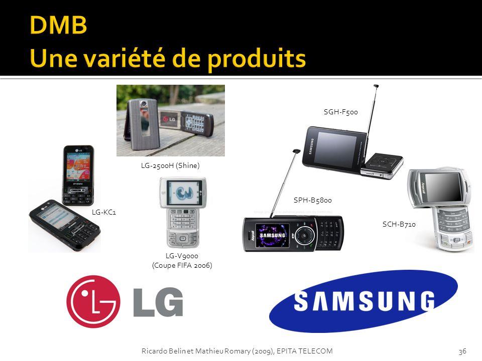 LG-V9000 (Coupe FIFA 2006) LG-KC1 LG-2500H (Shine) SPH-B5800 SGH-F500 SCH-B710 36Ricardo Belin et Mathieu Romary (2009), EPITA TELECOM