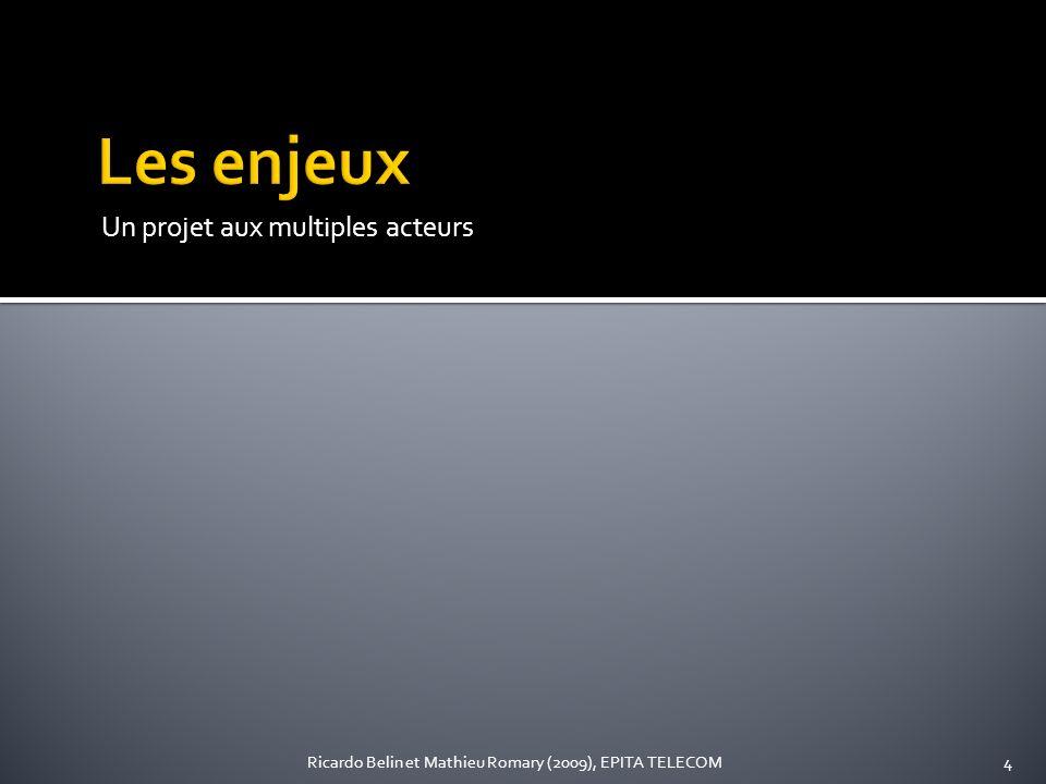 Un projet aux multiples acteurs 4Ricardo Belin et Mathieu Romary (2009), EPITA TELECOM