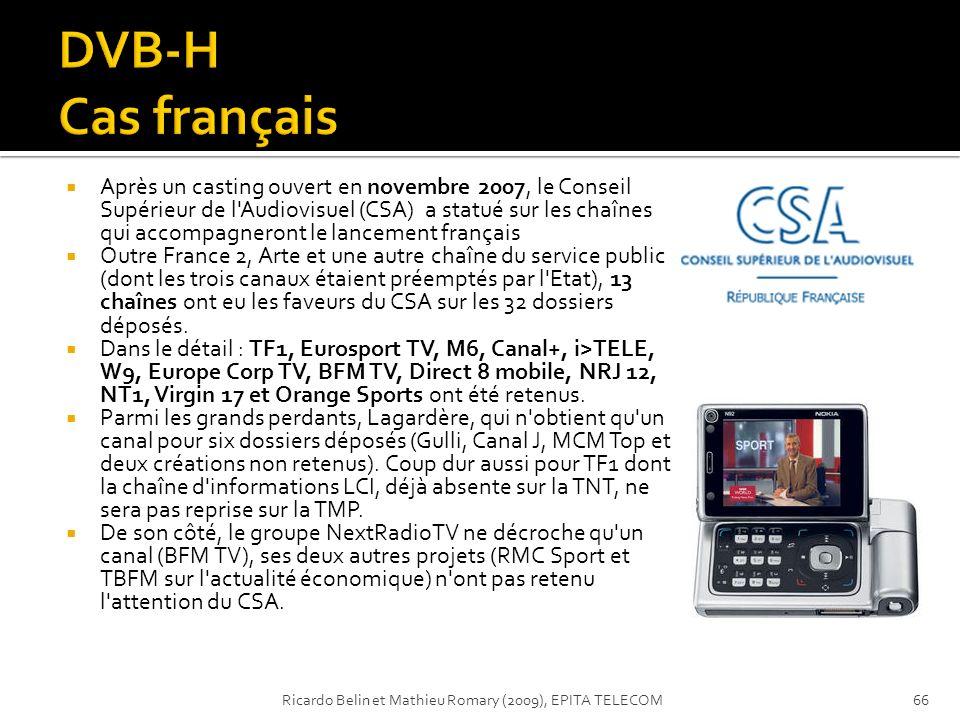 Après un casting ouvert en novembre 2007, le Conseil Supérieur de l'Audiovisuel (CSA) a statué sur les chaînes qui accompagneront le lancement françai